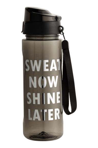 Water bottle with lid - Black - Ladies | H&M