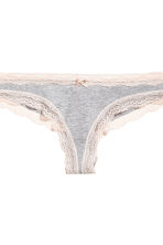 3-pack Brazilian briefs - Grey marl - Ladies | H&M CN 5