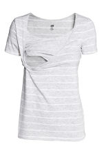 MAMA 2-pack nursing tops - Light grey/Striped - Ladies | H&M 3
