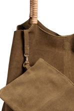 Suede shopper with clutch - Khaki brown - Ladies | H&M 3