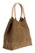 Suede shopper with clutch - Khaki brown - Ladies | H&M 2