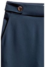 Wide suit trousers - Dark blue - Ladies | H&M 3
