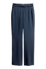 Wide suit trousers - Dark blue - Ladies | H&M 2
