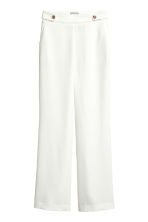 Wide suit trousers - White - Ladies | H&M CN 2
