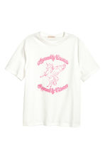 Printed T-shirt - White/Unicorn - Ladies | H&M 2