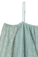 Lace off-the-shoulder blouse - Dusky green - Ladies | H&M 3