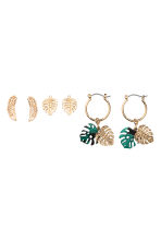 3-pack earrings - Gold - Ladies | H&M CN 1