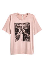 Printed T-shirt - Dusky pink/Romeo and Juliet -  | H&M CN 2