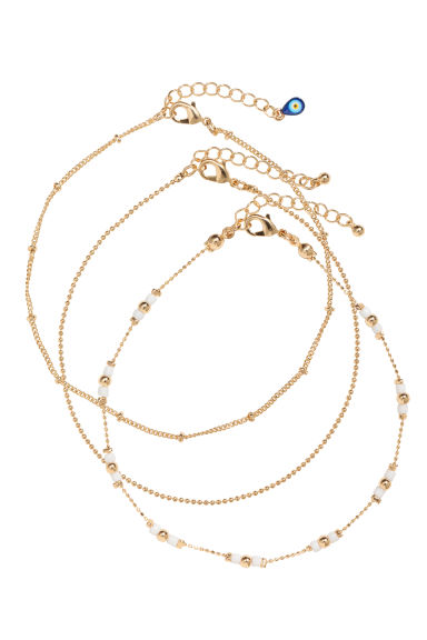 3-pack anklets - Gold - Ladies | H&M CN 1