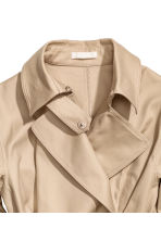 Cotton twill trenchcoat - Beige - Ladies | H&M CN 3