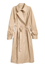 Cotton twill trenchcoat - Beige - Ladies | H&M CN 2