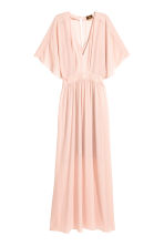 Long chiffon dress - Powder pink - Ladies | H&M CN 2