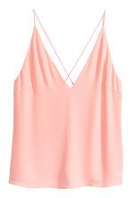 Top à encolure en V - Rose poudré -  | H&M FR 2