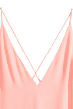 V-neck top - Powder pink -  | H&M 3