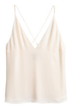 V-neck top - Natural white - Ladies | H&M 2