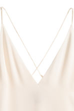 V-neck top - Natural white - Ladies | H&M 3