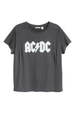 H&M+ Printed T-shirt - Dark grey AC/DC - Ladies | H&M 2