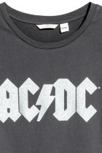 H&M+ 圖案T恤 - Dark grey AC/DC - Ladies | H&M 4