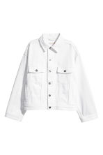 Denim jacket with lacing - White denim - Ladies | H&M CN 2
