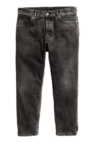 Cropped Tapered Jeans - Black washed out - Men | H&M 1