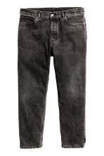 Cropped Tapered Jeans - Noir washed out - HOMME | H&M BE 1