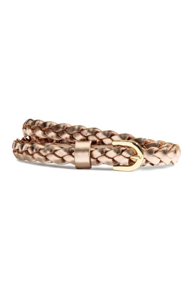 Braided belt - Bronze - Ladies | H&M 1