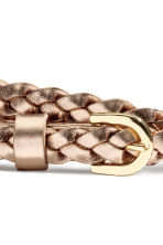 Braided belt - Bronze - Ladies | H&M 3