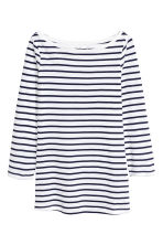 平紋上衣 - Dark blue/Striped - Ladies | H&M 2