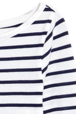 平紋上衣 - Dark blue/Striped - Ladies | H&M 3