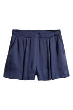 Satin shorts - Dark blue -  | H&M 2
