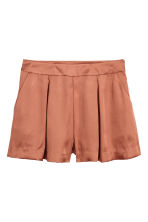 Satin shorts - Rust - Ladies | H&M 2