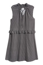 Patterned dress with frills - Black - Ladies | H&M CN 2