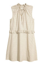 Patterned dress with frills - Light beige - Ladies | H&M 2
