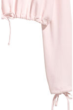 Short drawstring sweatshirt - Light pink - Ladies | H&M CN 3
