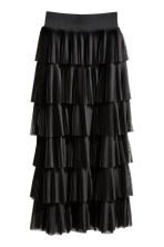 Tiered skirt - Black - Ladies | H&M CN 2