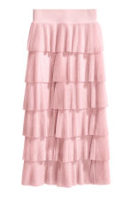 Tiered skirt - Light pink -  | H&M GB 2