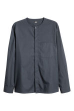 Collarless shirt Regular fit - Anthracite grey - Men | H&M 2