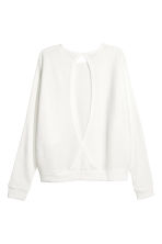 Ribbed jumper - White - Ladies | H&M CA 3