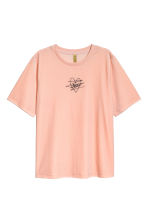 Velour T-shirt - Powder - Ladies | H&M CN 2