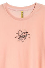 Velour T-shirt - Powder - Ladies | H&M CN 3