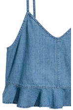 Denim straptop met volant - Denimblauw - DAMES | H&M BE 3