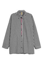 Oversized shirt - Black/Checked - Ladies | H&M 2