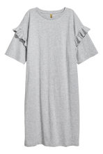 Oversized T-shirt dress - Grey marl - Ladies | H&M CN 2