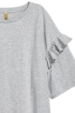 Oversized T-shirt dress - Grey marl - Ladies | H&M CN 3