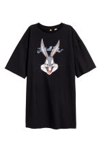 T-shirt dress - Black/Looney Tunes - Ladies | H&M 2