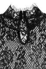 Long-sleeved lace top - Black - Ladies | H&M CN 3