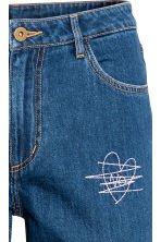 Straight Cropped High Jeans - Dark denim blue - Ladies | H&M CN 4