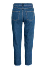 Straight Cropped High Jeans - 深牛仔蓝 - Ladies | H&M CN 3