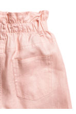 Short linen shorts - Powder pink - Ladies | H&M CN 3