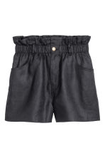 Short linen shorts - Black - Ladies | H&M CN 2